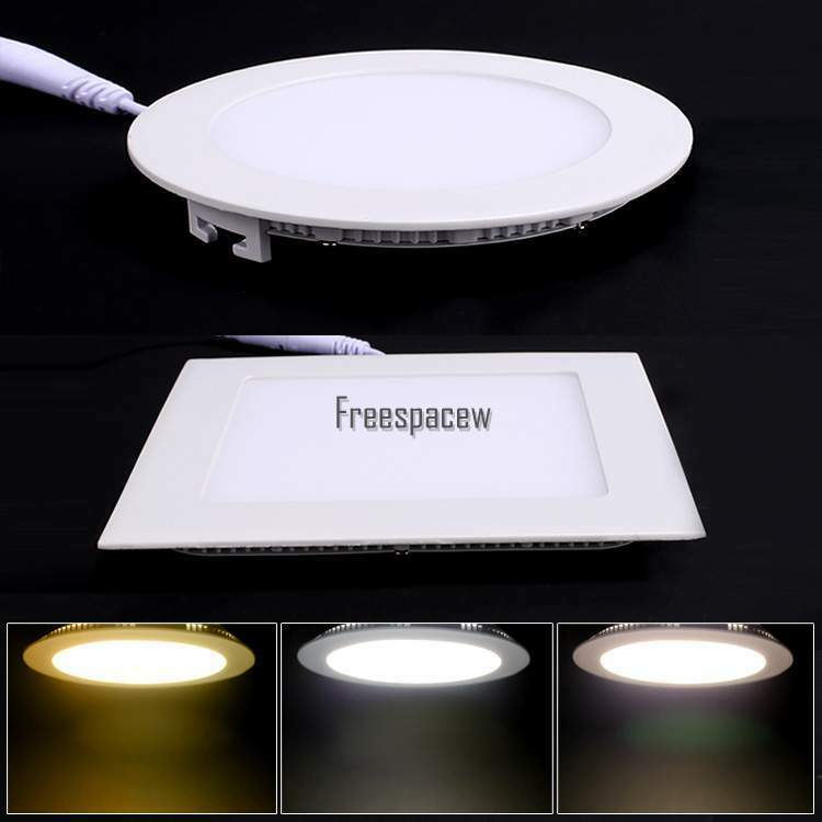 6w 12w 18w 24w Led Recessed Ceiling Flat Panel Down Light: 6W/9W/12W/15W/18W Dimmable LED Recessed Ceiling Panel Down