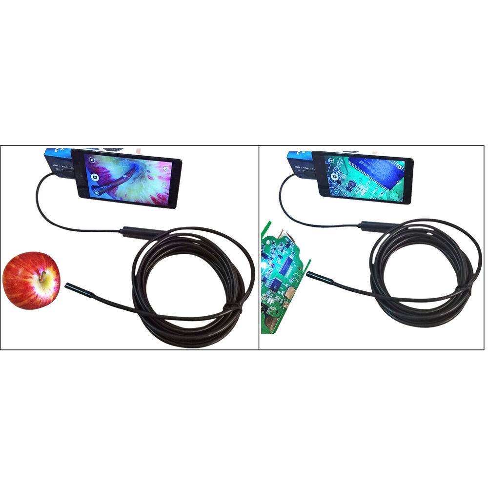 1 5m 3 5m android endoscope 7mm 6 led waterproof borescope. Black Bedroom Furniture Sets. Home Design Ideas