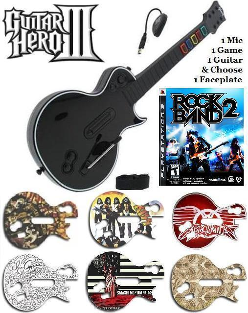 new ps3 guitar hero iii les paul controller w dongle. Black Bedroom Furniture Sets. Home Design Ideas