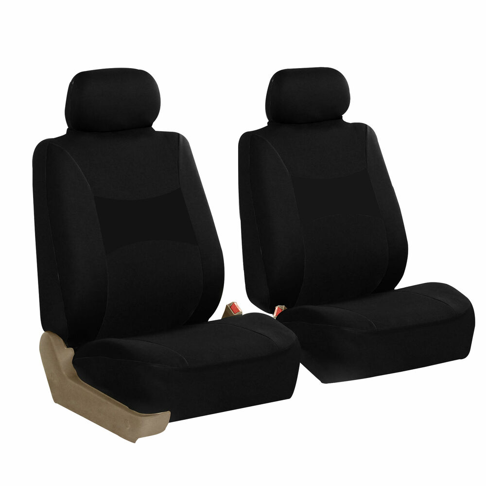 front 2 bucket universal car seat covers black for auto ebay. Black Bedroom Furniture Sets. Home Design Ideas