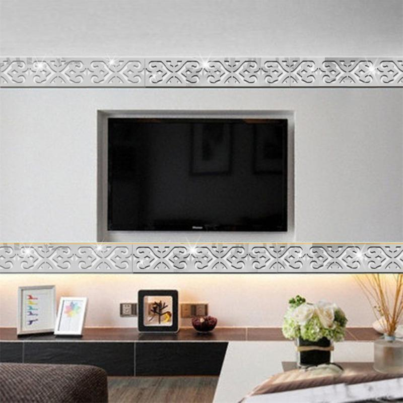 Mirror Wall Stickers Acrylic Sticker Ceiling Stickers