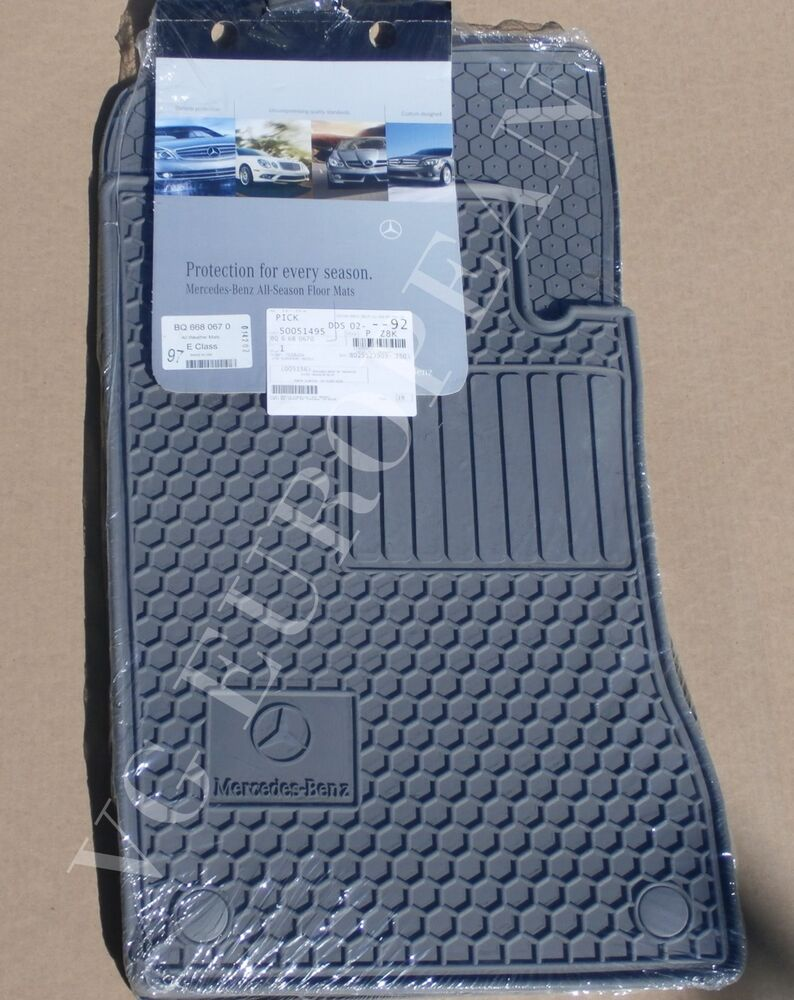 Mercedes benz w211 e class genuine all season rubber floor for Mercedes benz e350 floor mats