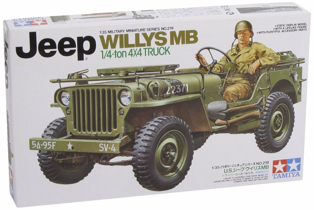 tamiya 1 35 u s jeep willys mb 35219 ebay. Black Bedroom Furniture Sets. Home Design Ideas