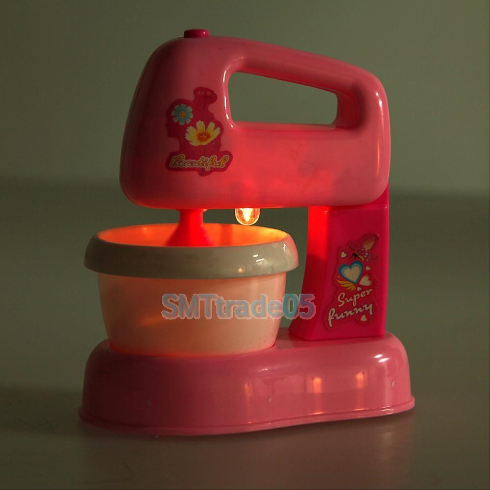Child Kids Toy Pretend Kitchen Electric Cake Blender Mixer