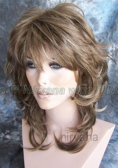 Shoulder Length Flicked Layers Nirvana Angie Wig Ebay