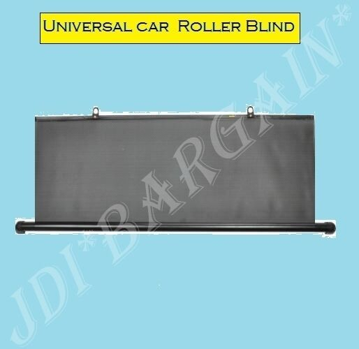 rear window blind tint car roller curtain sun shade universal o type black 90cm ebay. Black Bedroom Furniture Sets. Home Design Ideas