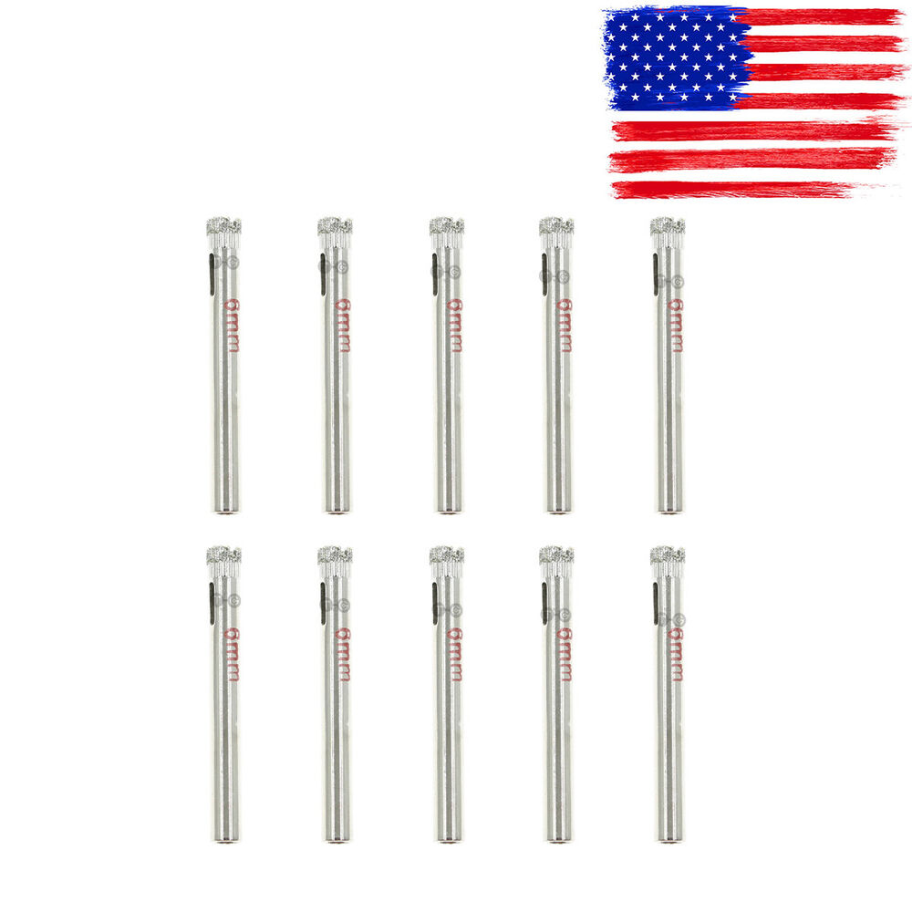 10pcs 6mm 1 4 Quot Inch Diamond Coated Core Drill Drills Bit