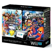 Nintendo Wii U Deluxe Set - Includes Splatoon and Super Smash Bros - $249 Target on eBay