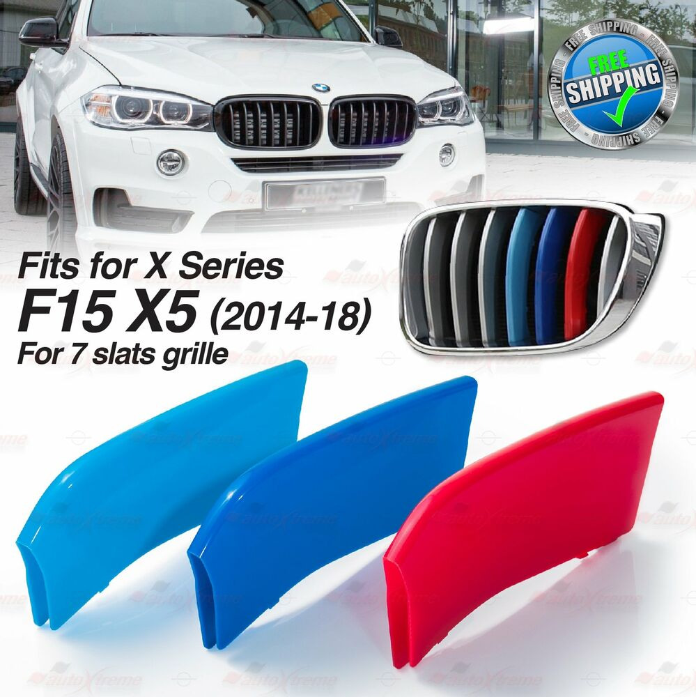 M-Performance 7 BARS Kidney Grille 3 Color Cover Clips for