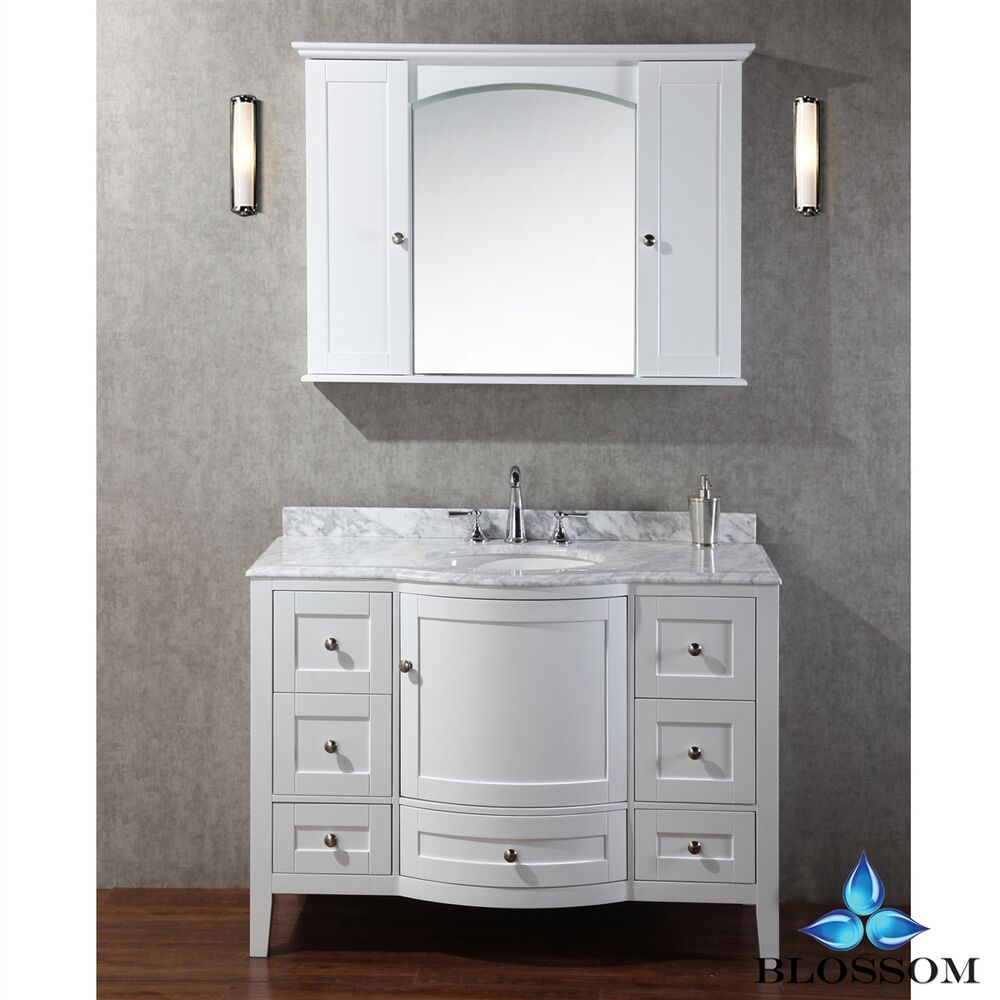 bathroom vanity tops with sink blossom 48 quot rome single sink bathroom vanity with marble 22526