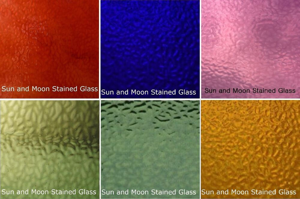 Wissmach Stained Glass Sheet Pack 6 Sheets Of English