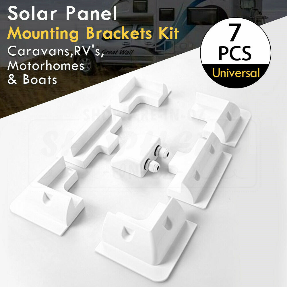 Solar Panel Kit Corner Mount Bracket Set For Cable Block Caravan Boat  Motorhome | eBay