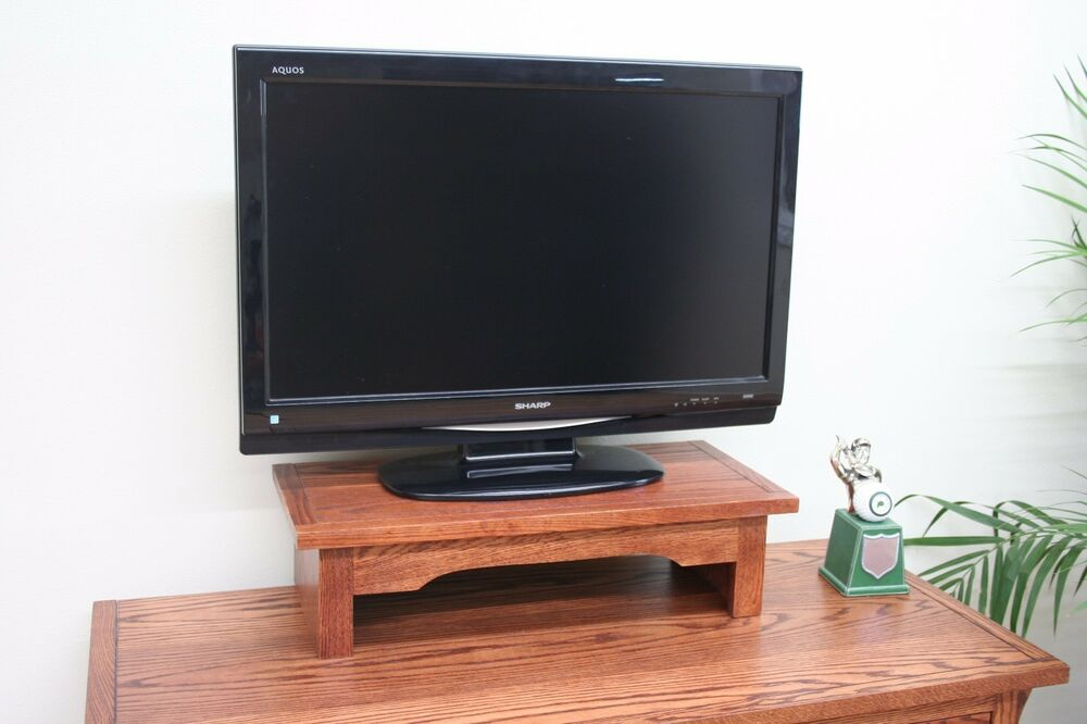 Tv riser stand stereo monitor printer laptop office