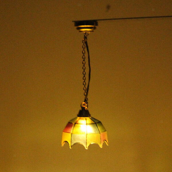 DOLL HOUSE MINIATURE CEILING LED LIGHTING Colored Shade
