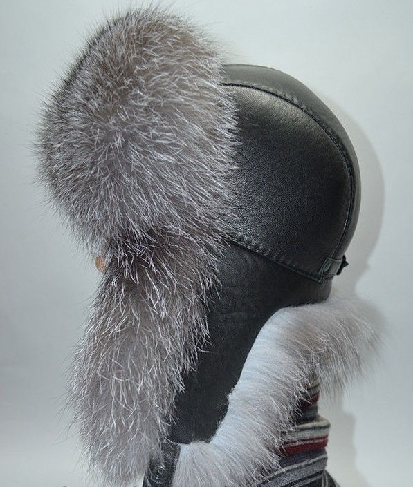 7896d037bdc8 silver fox natural real fur hat chapka shapka ushanka men xs s m l xl xxl  ebay Men s
