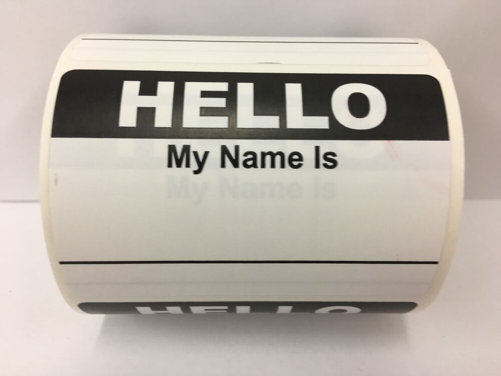 Hello My Name Is: 50 Labels BLACK Hello My Name Is Name Tag Identification