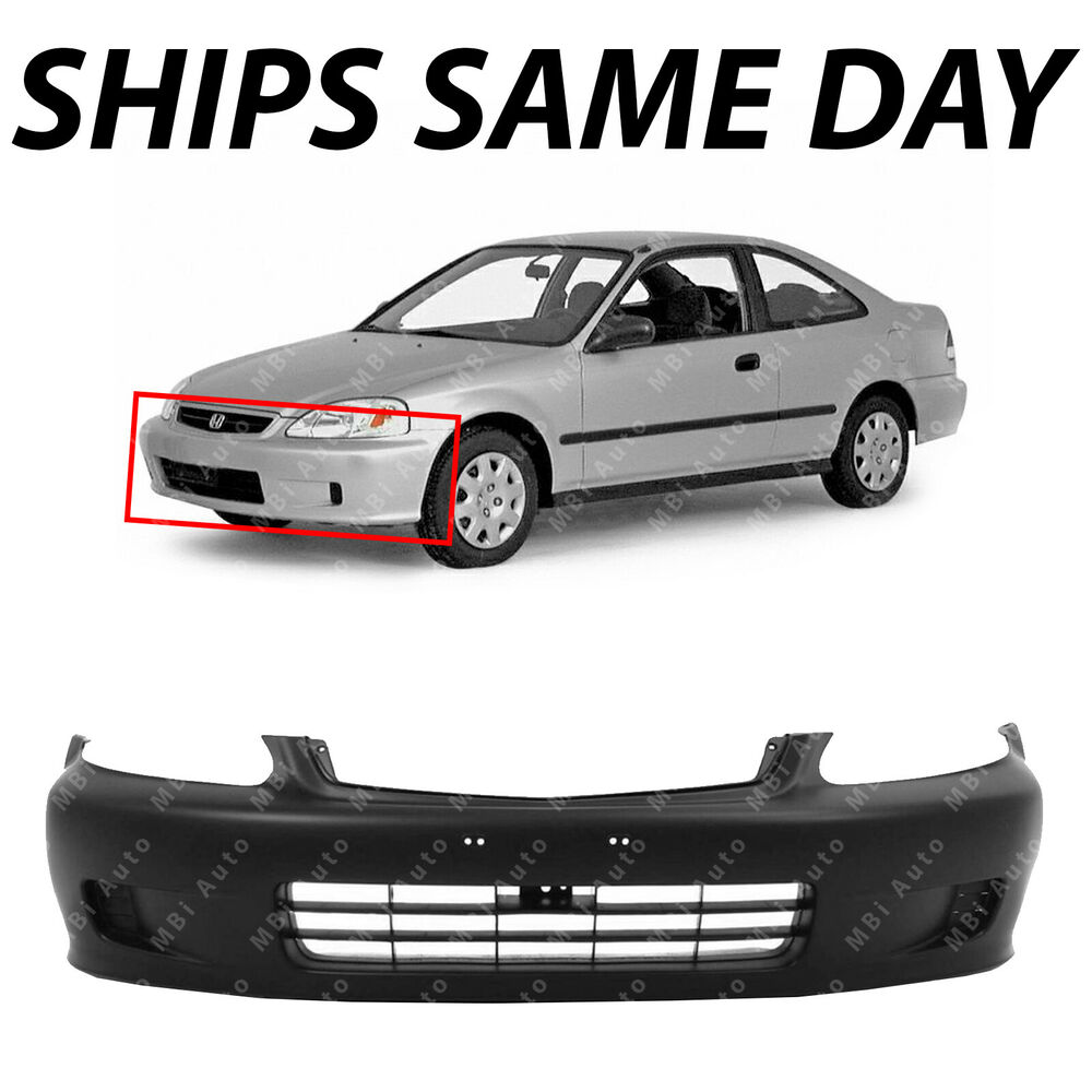 new primered front bumper cover fascia for 1999 2000. Black Bedroom Furniture Sets. Home Design Ideas