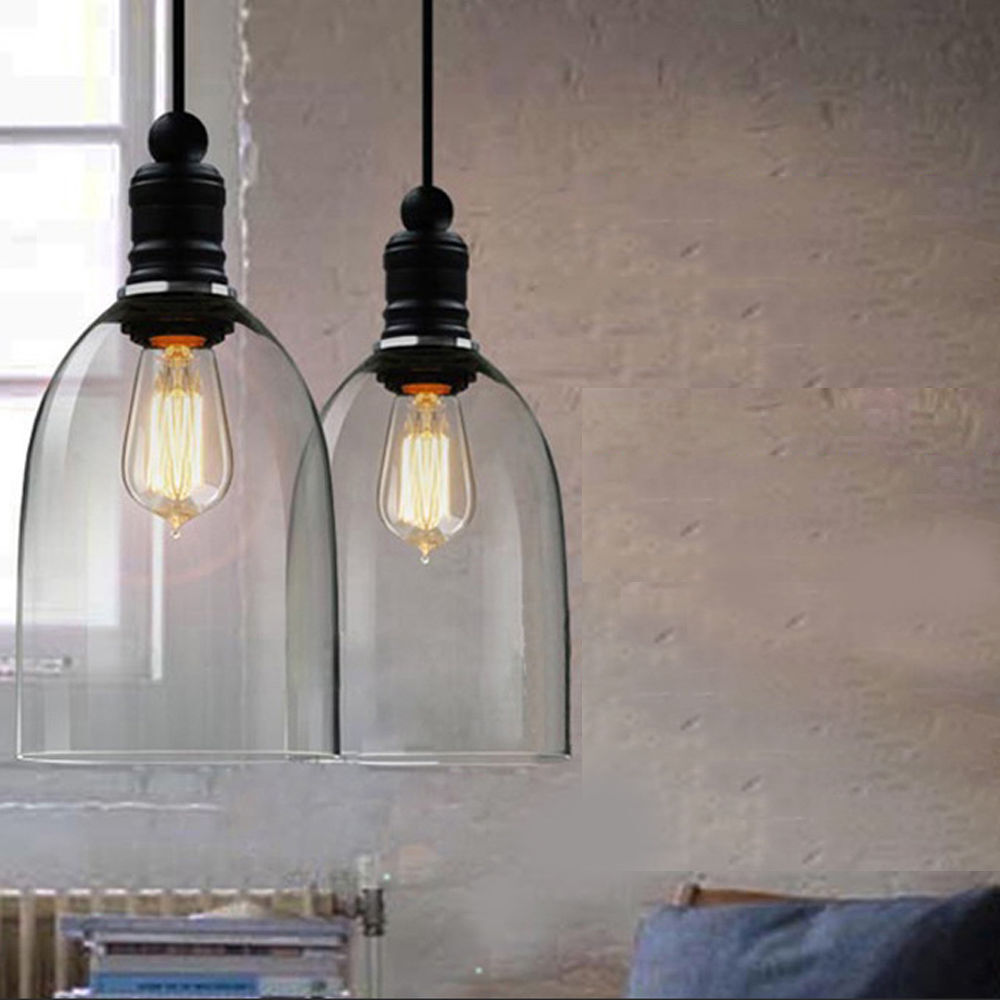 Kitchen Decor Vintage Retro Ceiling Light Glass Pendant