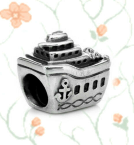 AUTHENTIC PANDORA SILVER BEADCHARM 791043 All Aboard