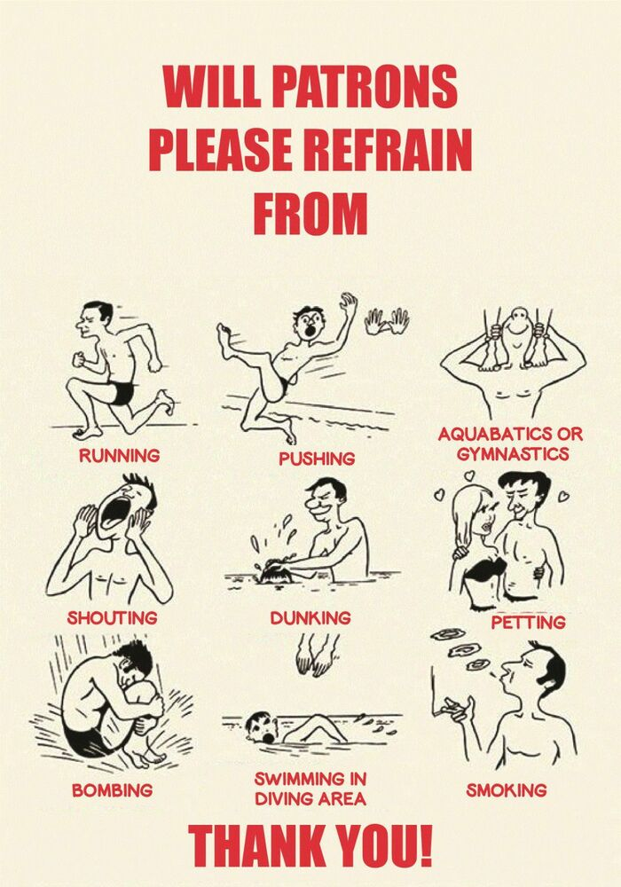 Old Fashioned Swimming Pool Signs