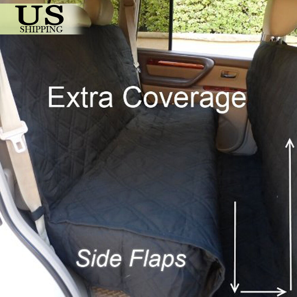 Backseat Dog Hammock >> Large Deluxe Quilted Padded Car SUV Seat Cover Pet Dog ...