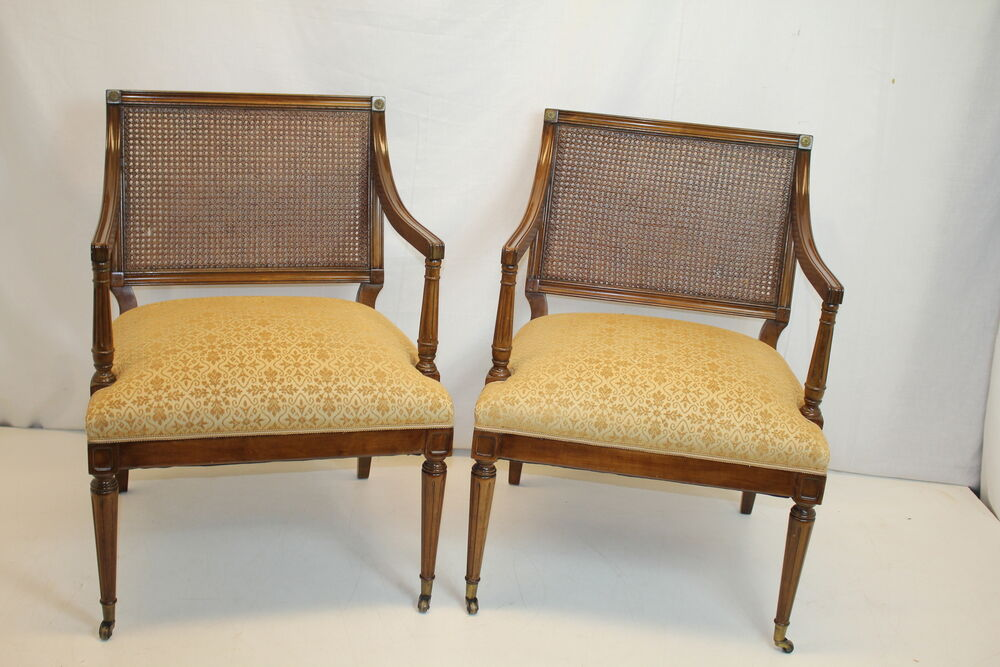 Pair of antique french louis xvi fruitwood living room for Ebay living room chairs