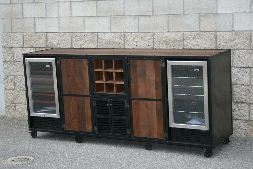 Beverage Center Liquor Cabinet Refrigerator Unit Bar