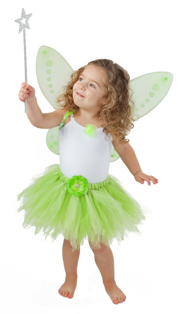 Tinkerbell costume for toddler tinkerbelle birthday party and dress up ebay - Deguisement peter pan enfant ...