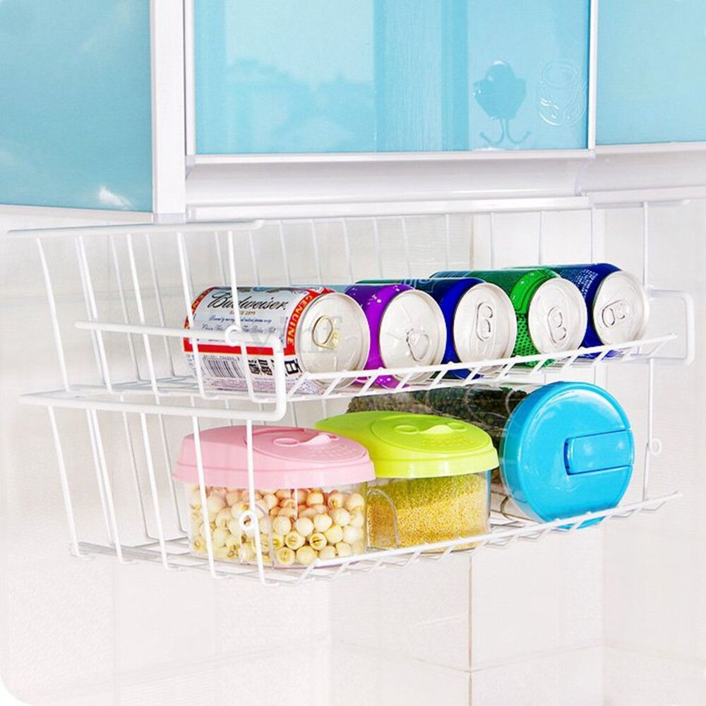 under cabinet basket kitchen shelf storage basket rack holder table 27459