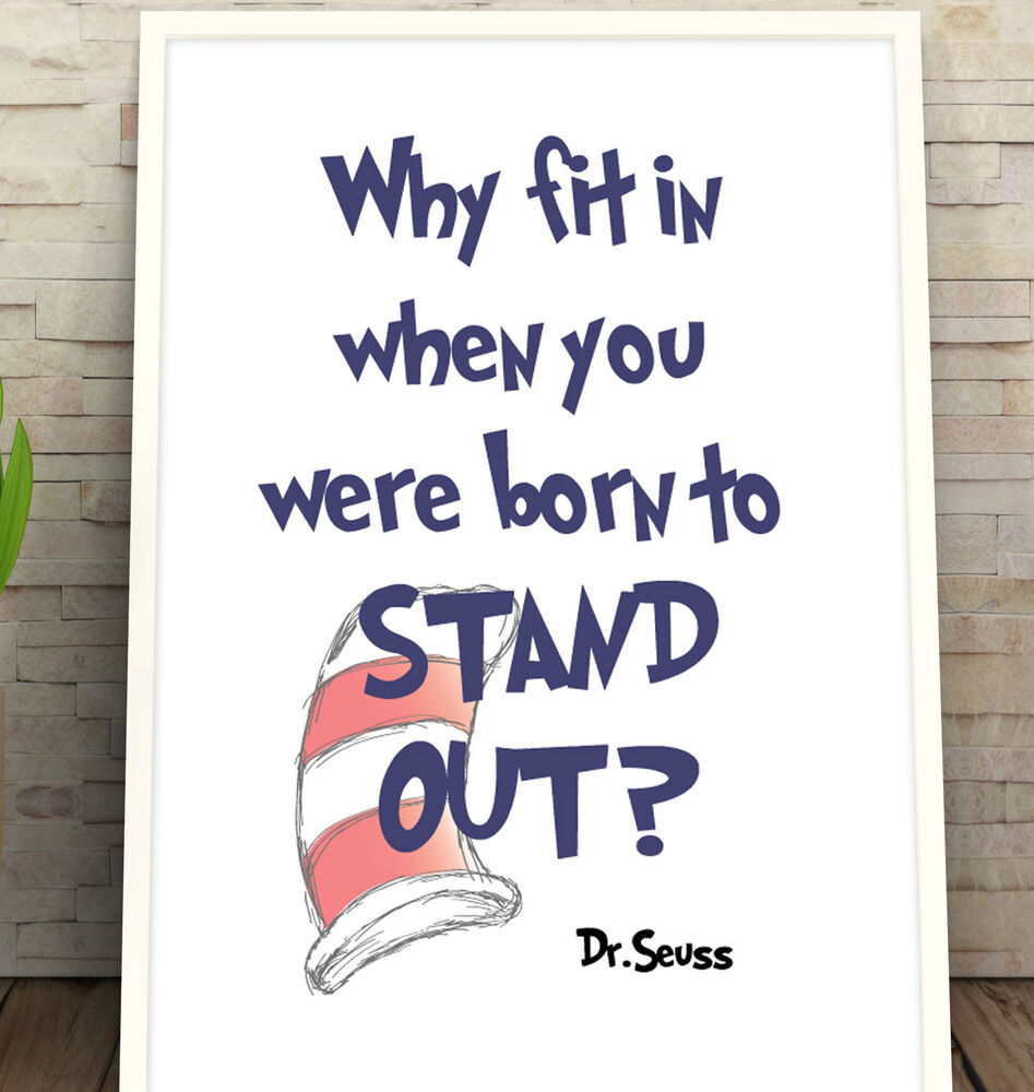 33 Dr Seuss Quote Poster Kids Poster Print Quote Print