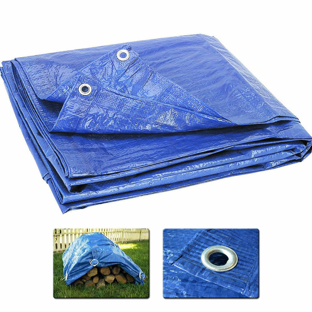 Blue Multi Purpose Tarp Waterproof Cover Tent Shelter