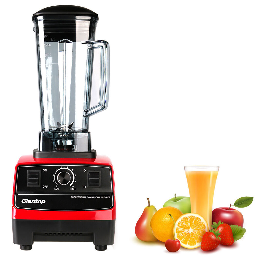 Industrial Kitchen Blender: 2L 110V High Performance Commercial Food Fruit Smoothie