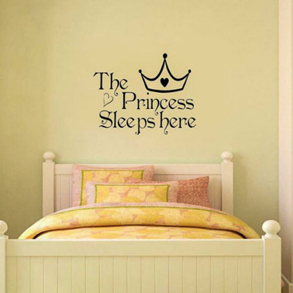 GREAT Princess Removable Wall Sticker Girls Bedroom Decor ...