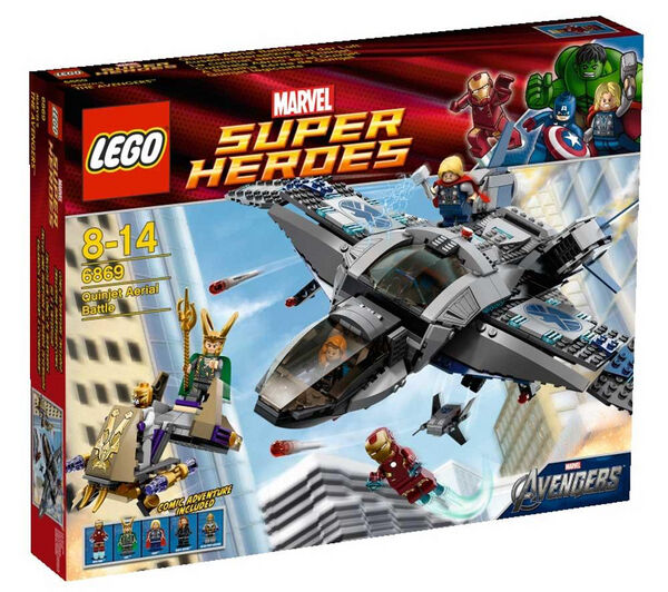the best attitude 2894e da5b6 LEGO 6869 MARVEL SUPER HEROES AVENGERS QUINJET AERIAL BATTLE NIB   eBay