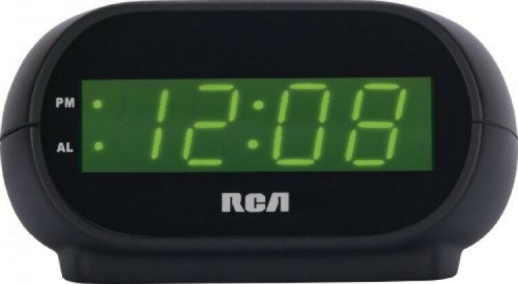 rca digital alarm clock with night light new free shipping 44476084430 ebay. Black Bedroom Furniture Sets. Home Design Ideas