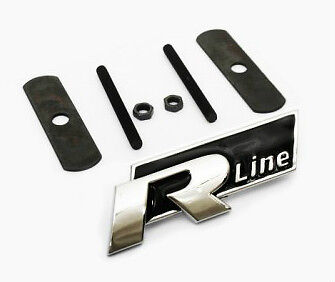 1vw r line grill car badge black emblem polo passat golf. Black Bedroom Furniture Sets. Home Design Ideas