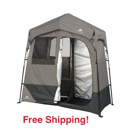 Camping Shower Tent Portable Outdoor 2 Room Changing