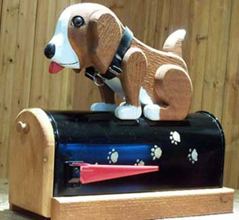 Hound dog mailbox unique hand made novelty woodendipity for Unique mailboxes to buy
