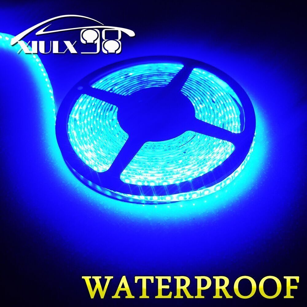 Super Bright Ultra Blue 5m 3528 Waterproof Flexible Led