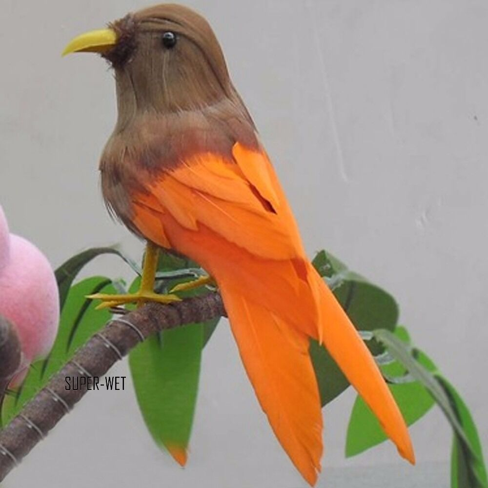 Fake artificial small bird realistic taxidermy natural for Artificial birds for decoration