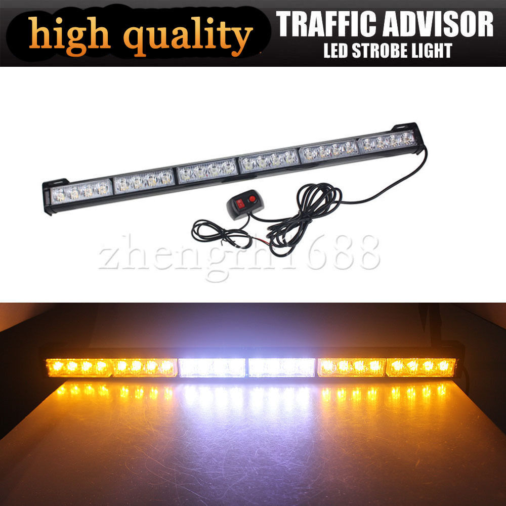 amber emergency traffic advisor flash strobe light bar warning ebay. Black Bedroom Furniture Sets. Home Design Ideas