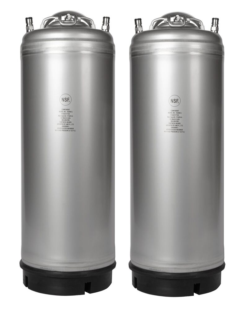homebrew 2 pack new 5 gallon ball lock kegs w pressure relief ships free ebay. Black Bedroom Furniture Sets. Home Design Ideas