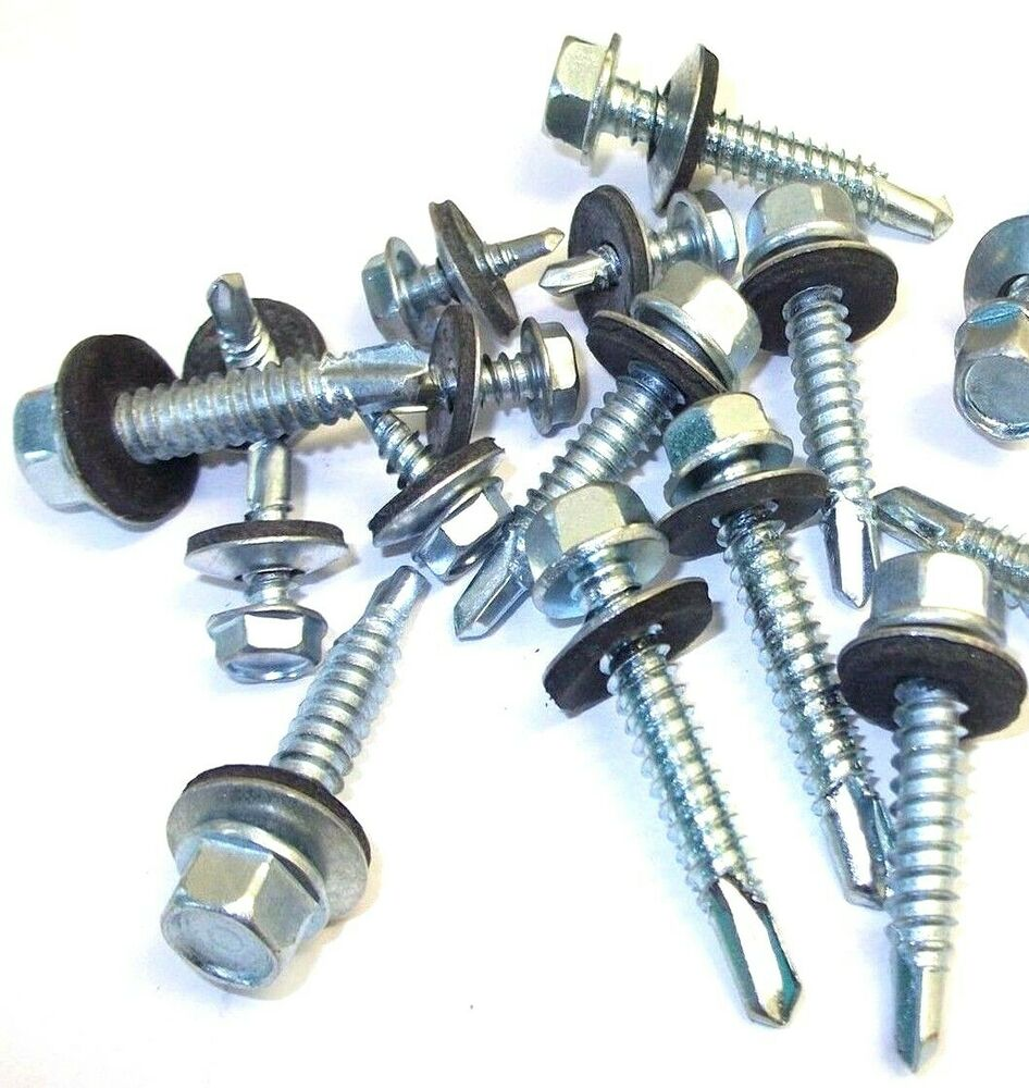 roofing tek screws self tapping metal to wood fixing self drill stitching bolt ebay. Black Bedroom Furniture Sets. Home Design Ideas