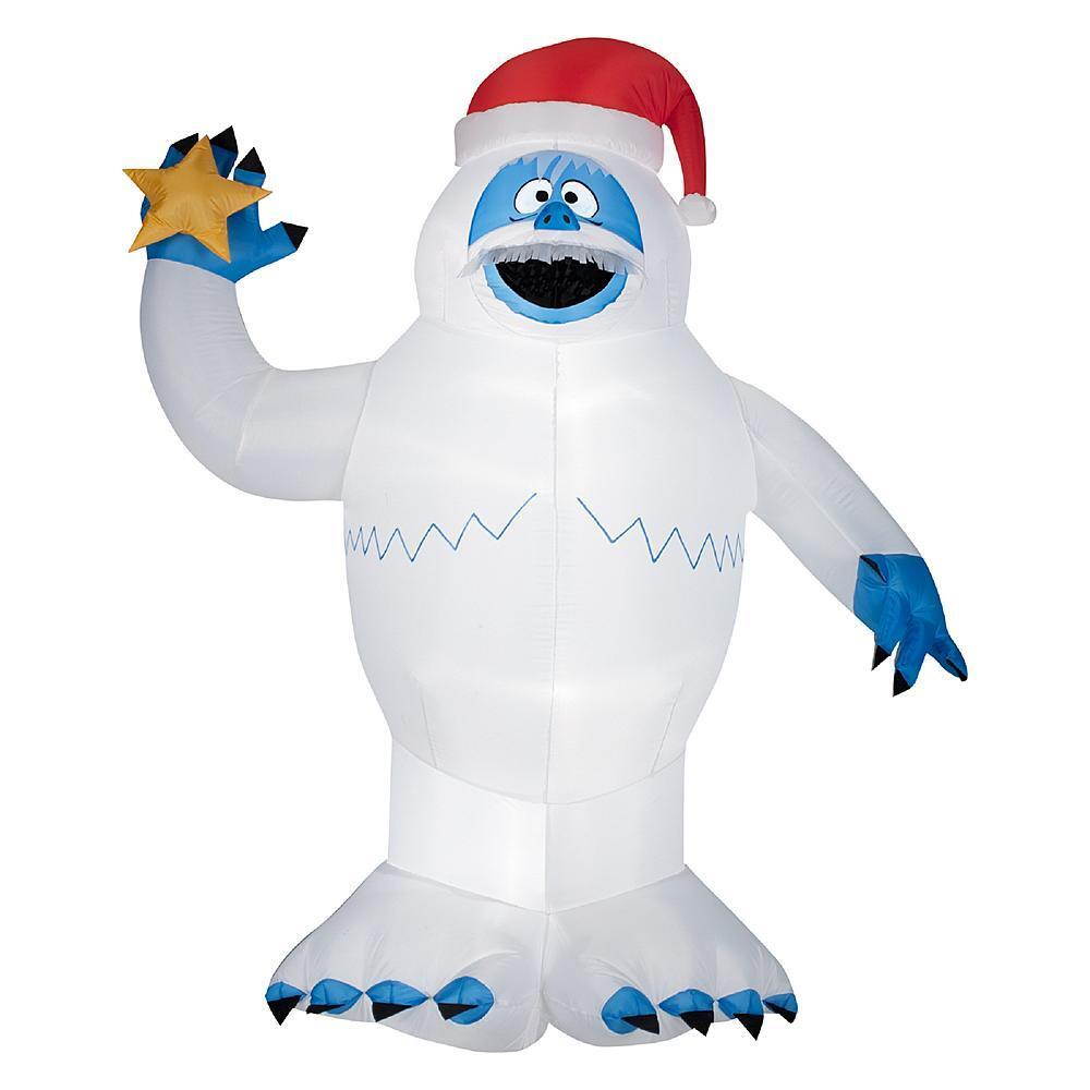 5 5 ft tall inflatable airblown bumble abominable snowman for Abominable snowman yard decoration