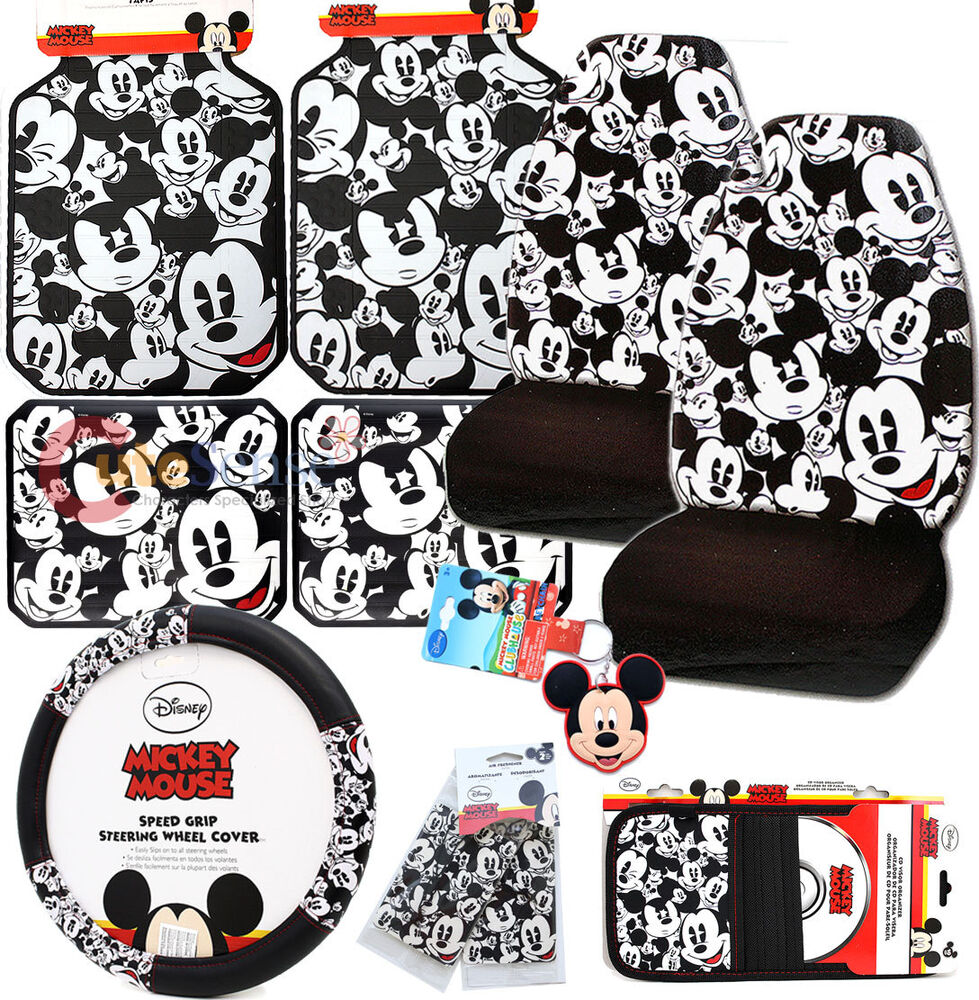 disney mickey mouse car seat covers accessories expressions 11pc set ebay. Black Bedroom Furniture Sets. Home Design Ideas