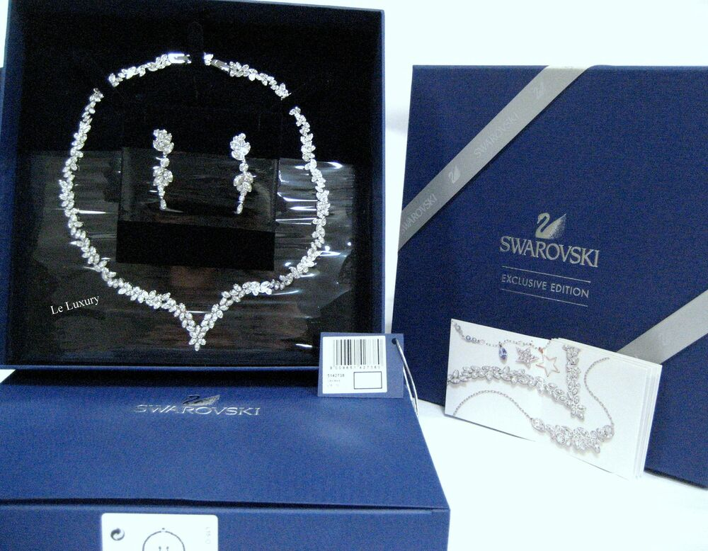 Swarovski watch bracelet set