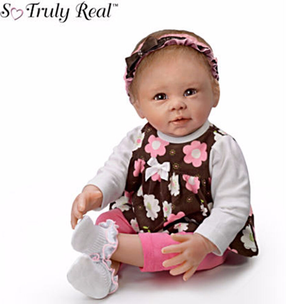 Ashton drake sweet brown eyed girl poseable baby doll ebay for The ashton