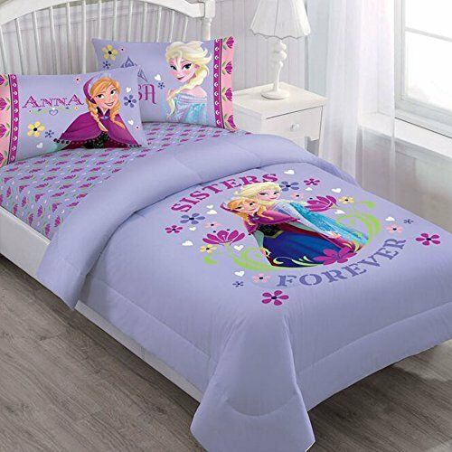 frozen bedroom set 3 pieces disney frozen elsa purple bedding 11569
