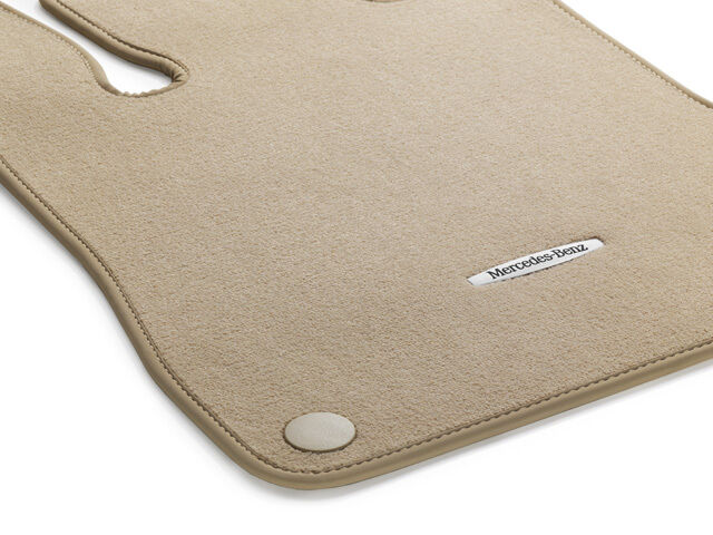 Genuine oem mercedes benz sl class r231 beige carpeted for Mercedes benz sl550 floor mats