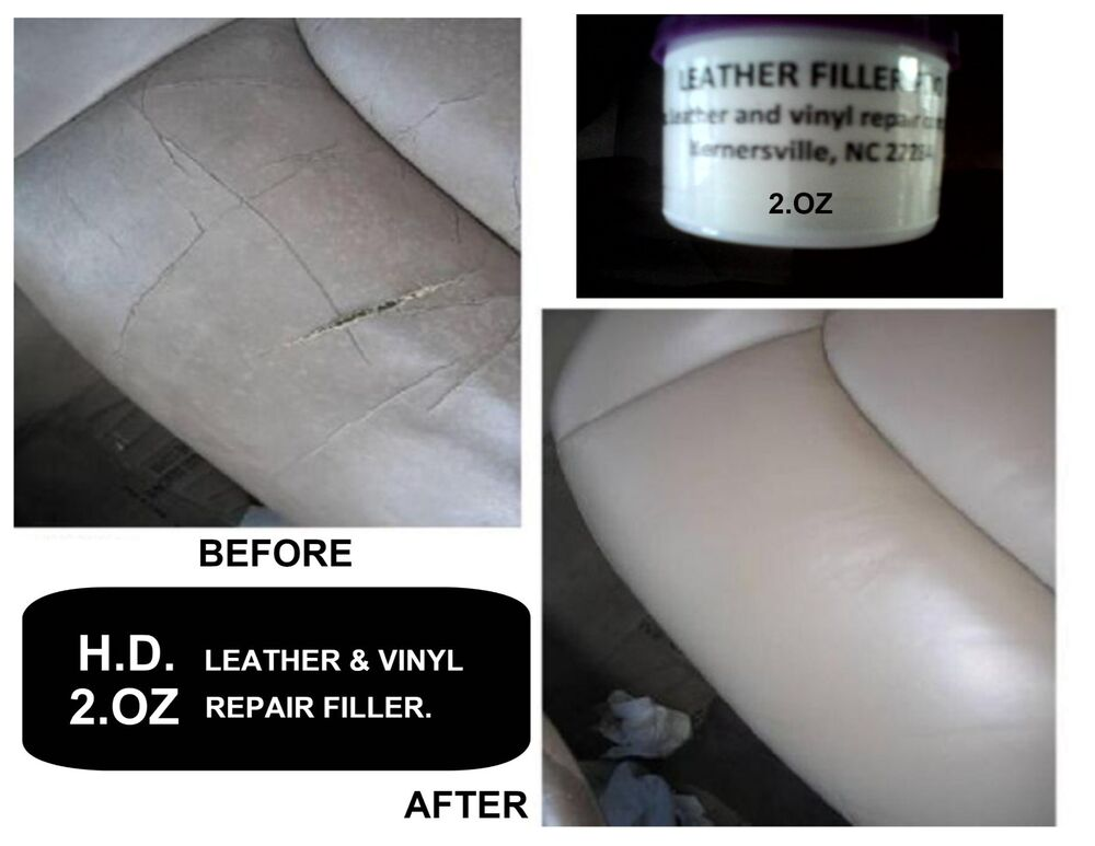 leather vinyl seats repair filler compound clear color when it gets dry 100 ebay. Black Bedroom Furniture Sets. Home Design Ideas